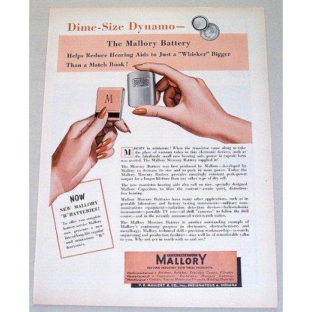 1954 Mallory Mercury Battery Color Print Ad
