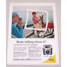 1961 Kodak Brownie Starmeter Camera Fishing Color Print Ad