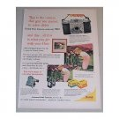 1955 Kodak Pony 135 Model B Camera Color Print Ad