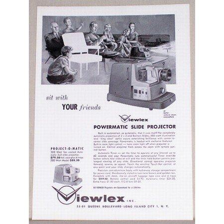 1957 Viewlex Powermatic Slide Projector Vintage Print Ad