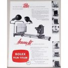 1953 Bolex Tv Film Tilter Vintage Print Ad