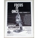 1957 Simmon Automega D3 Enlarger Vintage Print Ad - Focus It Once