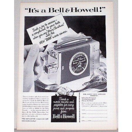 1953 Bell Howell 200 Movie Camera Vintage Print Ad