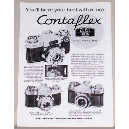 1959 Zeiss Ikon Contaflex Camera Vintage Print Ad - Be At Your Best