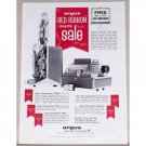 1961 Argus Projectors Vintage Print Ad - Red Ribbon Sale