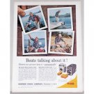 1961 Kodak Brownie Starmatic II Camera Fishing Color Print Ad
