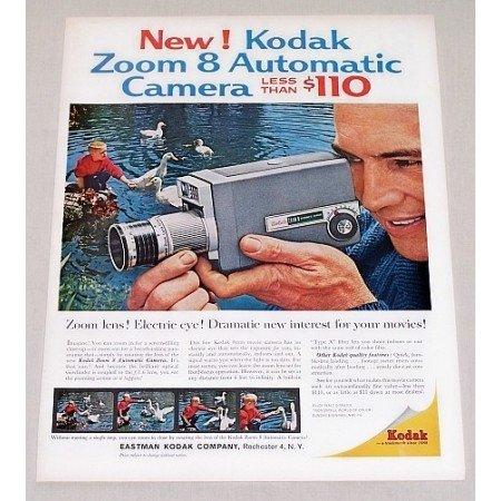 1961 Kodak Zoom 8 Automatic Camera Color Print Ad