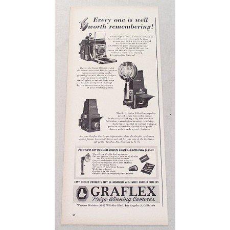 1947 Graflex Series B Super D Cameras Vintage Print Ad