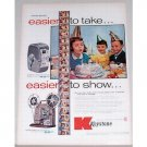 1955 Keystone K29 Camera K100M Projector Color Print Ad