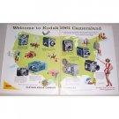 1961 Kodak Brownie Cameras 2 Page Color Print Ad - Cameraland