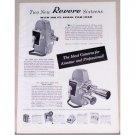 1957 Revere 101 and 103 Spool Load Cameras Vintage Print Ad