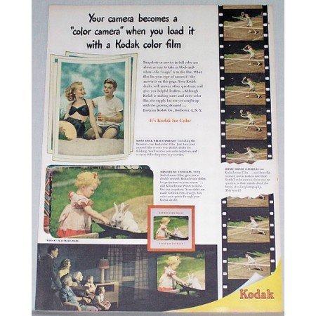 1948 Kodak Kodachrome Color Film Color Print Ad