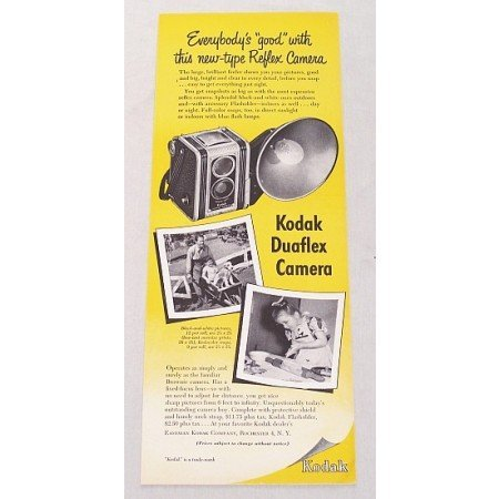 1948 Kodak Duaflex Camera Color Print Ad - Everybody's Good