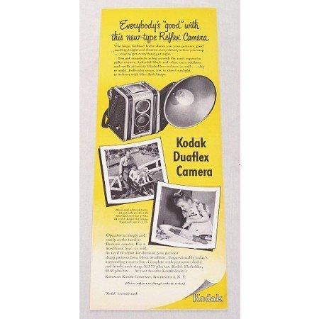1948 Kodak Duaflex Camera Color Print Ad - Everybody's Good