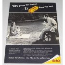 1946 Kodak Verichrome Film Vintage Print Ad - You Press The Button