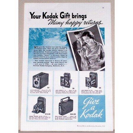 1935 Kodak Cameras Vintage Print Ad - Many Happy Returns