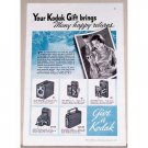 1935 Kodak Cameras Vintage Print Ad - Many Happy Returns