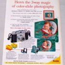 1955 Eastman Kodak Model B Pony Camera Color Print Ad