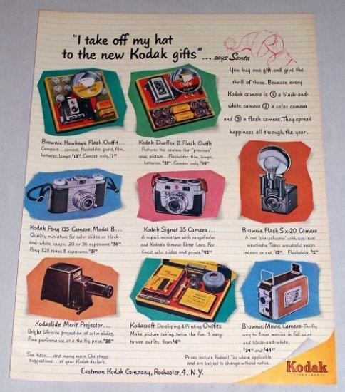 1953 Kodak Cameras Color Print Art Ad - Kodak Gifts