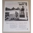 1954 Bell System Airlight Outdoor Telephone Booth Vintage Print Ad