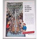 1957 Western Electric Phone Color Phone Assembly Line Print Ad