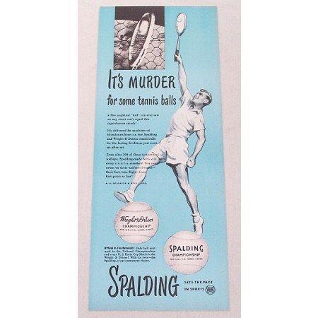 1947 Spalding Wright Ditson Tennis Balls Vintage Print Ad