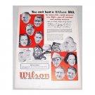 1948 Wilson Top Notch K-28 Championship Golf Balls Vintage Print Ad