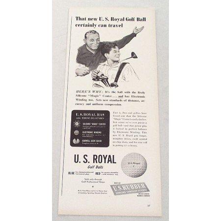 1948 U.S. Royal Golf Balls Vintage Print Ad - Certainly Can Travel