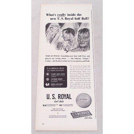 1948 U.S. Royal Golf Balls Vintage Print Ad - What's Really Inside