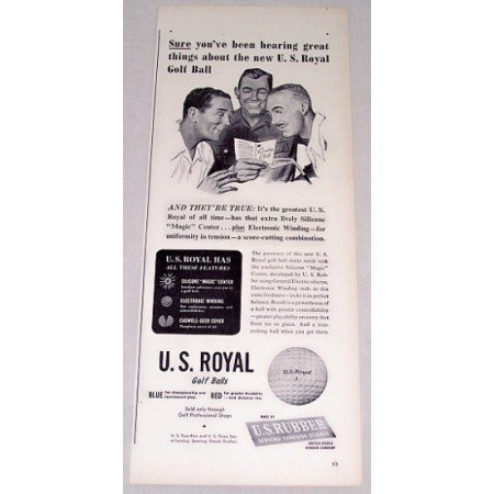 1948 U.S. Royal Golf Balls Vintage Print Ad - Hearing Great Things