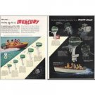 1952 Mercury Outboard Boat Motors 2 Page Color Print Ad