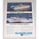 1965 Evinrude Ski-Lark Outboard Motor Color Print Ad
