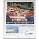 1961 Cutter Boats Outdoor Beach Color Print Ad - Best Boat Buy