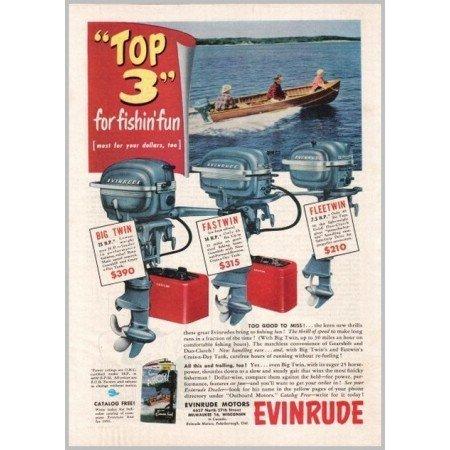 1951 Evinrude Outboard Boat Motors Boating Color Print Ad