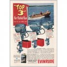 1951 Evinrude Outboard Boat Motors Boating Color Print Ad