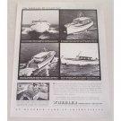 1947 Wheeler 40 Sunlounge Cruiser Boats Vintage Print Ad