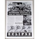 1938 Eclipse Outboard Motors Vintage Print Ad - Outboard Behavior