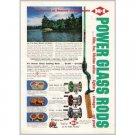 1953 H-I Power Glass Casting Fishing Rods Color Print Ad