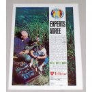 1965 Berkley Trilene Fishing Line Color Print Ad - Experts Agree