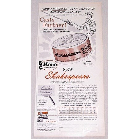 1960 Shakespeare Micro Soft Fishing Line Vintage Print Ad