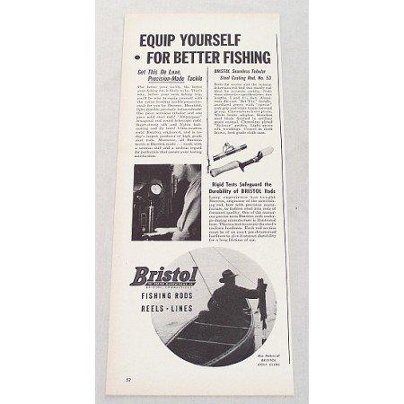 1948 Bristol #53 Steel Casting Rod Vintage Print Ad - Equip Yourself