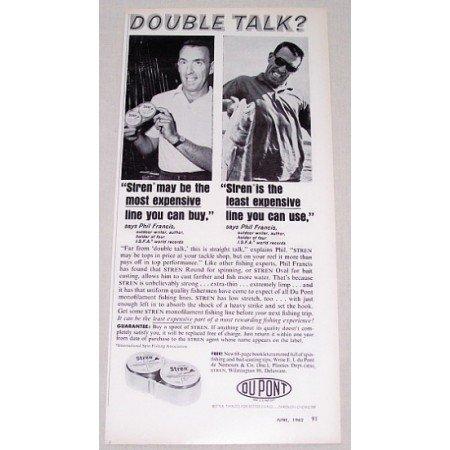 1962 Stren Fishing Line Vintage Print Ad - Double Talk?