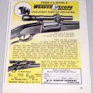 1951 Weaver Scope Model K2.5 Top Mount Vintage Print Ad
