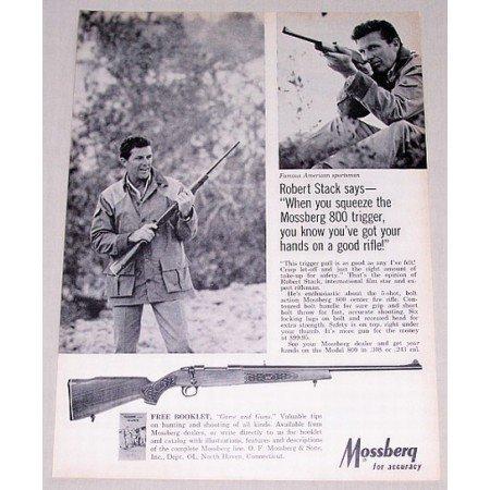 1967 Mossberg 800 Rifle Vintage Print Ad Celebrity Robert Stack