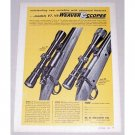 1966 Weaver Scopes Model V7 V9 Rifle Scopes Color Print Ad