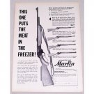 1957 Marlin 336 Carbine Rifle Vintage Print Ad