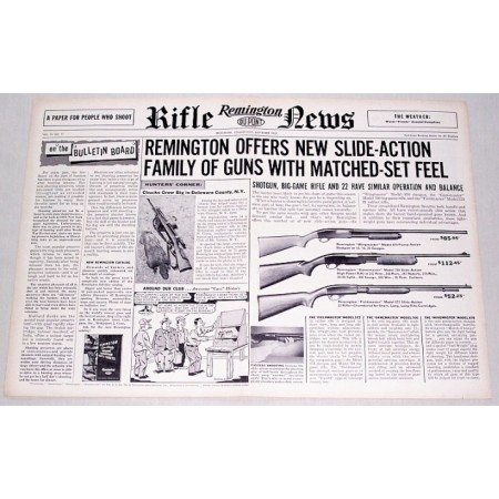 1957 Remington Rifles 2 Page Vintage Print Ad - Rifle News
