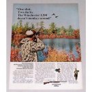 1965 Winchester Model 1200 Shotgun Color Print Ad