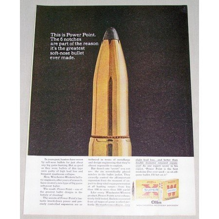 1961 Winchester Western Power Point Shells Color Ad