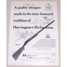1966 Harrington & Richardson M-158 Topper SB Shotgun Vintage Print Ad